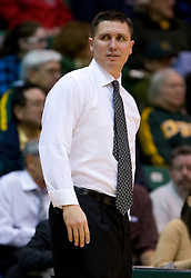 January 30, 2010; San Francisco, CA, USA;  San Francisco Dons head coach Rex Walters during the first half against the Gonzaga Bulldogs at the War Memorial Gym.  San Francisco defeated Gonzaga 81-77 in overtime.