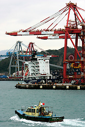 TAIWAN KEELUNG 3NOV07 - Container terminal at Keelung port, northeast Taiwan...jre/Photo by Jiri Rezac..© Jiri Rezac 2007..Contact: +44 (0) 7050 110 417.Mobile:  +44 (0) 7801 337 683.Office:  +44 (0) 20 8968 9635..Email:   jiri@jirirezac.com.Web:    www.jirirezac.com..© All images Jiri Rezac 2007 - All rights reserved.