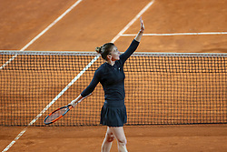 May 18, 2018 - Rome, Rome, Italy - 18th May 2018, Foro Italico, Rome, Italy; Italian Open Tennis; Simona Halep (ROU) celebrates after winning her quarte-final match against Caroline Garcia (FRA) 6-2, 6-3. Credit: Giampiero Sposito/Pacific Press (Credit Image: © Giampiero Sposito/Pacific Press via ZUMA Wire)