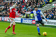 Blackburn Rovers Bradley Dack (23) during the EFL Sky Bet League 1 match between Fleetwood Town and Blackburn Rovers at the Highbury Stadium, Fleetwood, England on 20 January 2018. Photo by Michal Karpiczenko.