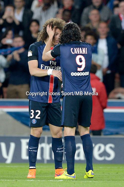 joie PSG / David Luiz / Edinson Cavani - 23.05.2015 - PSG / Reims - 38eme journee de Ligue 1<br /> Photo : Andre Ferreira / Icon Sport