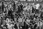 Protestors dancing, Reclaim the Streets, Shepherd's Bush, London, July 1996