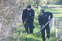© Licensed to London News Pictures 27/10/2018<br /> Longfield,UK.<br /> Police search teams in fields in Longfield,Kent as the search for Missing mum Sarah Wellgreen continues.<br /> Photo credit: Grant Falvey/LNP