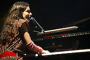 Cimiez-Nice, France. July 25th 2008..Yael Naim performs at the Nice jazz Festival.