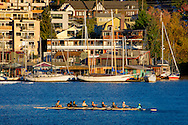 houseboats on Eastlake and rowing crew