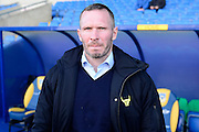 Oxford United Manager Michael Appleton during the The FA Cup Fourth Round match between Oxford United and Blackburn Rovers at the Kassam Stadium, Oxford, England on 30 January 2016. Photo by Dennis Goodwin.