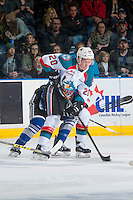 KELOWNA, CANADA - DECEMBER 30: Conner Bruggen-Cate #20 of the Kelowna Rockets skates against the Kelowna Rockets on December 30, 2016 at Prospera Place in Kelowna, British Columbia, Canada.  (Photo by Marissa Baecker/Shoot the Breeze)  *** Local Caption ***