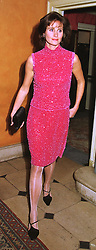 The COUNTESS OF CALEDON, at a party in London on 4th February 1999.MNY 37