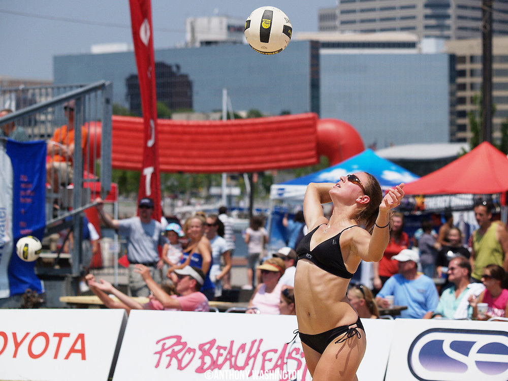 Toyota Pro Beach East Volleyball Tour at the Inner Harbor in Baltimore, MD on Sunday, July 13, 2008.