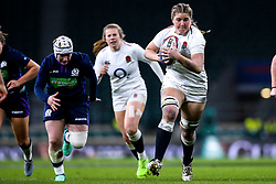 Poppy Cleall of England Women runs with the ball - Mandatory by-line: Robbie Stephenson/JMP - 16/03/2019 - RUGBY - Twickenham Stadium - London, England - England Women v Scotland Women - Women's Six Nations