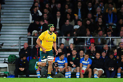 Leroy Houston of Australia runs on the field on the occasion of his debut for the Wallabies - Mandatory byline: Patrick Khachfe/JMP - 07966 386802 - 08/10/2016 - RUGBY UNION - Twickenham Stadium - London, England - Argentina v Australia - The Rugby Championship.