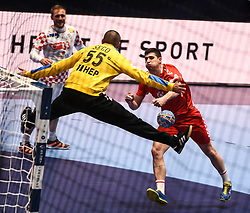 Marin Sego of Croatia during the handball match between National teams of Serbia and Croatia in Group A of Men's EHF EURO 2020 on January 13, 2020 in Stadhalle Graz, Graz, Austria