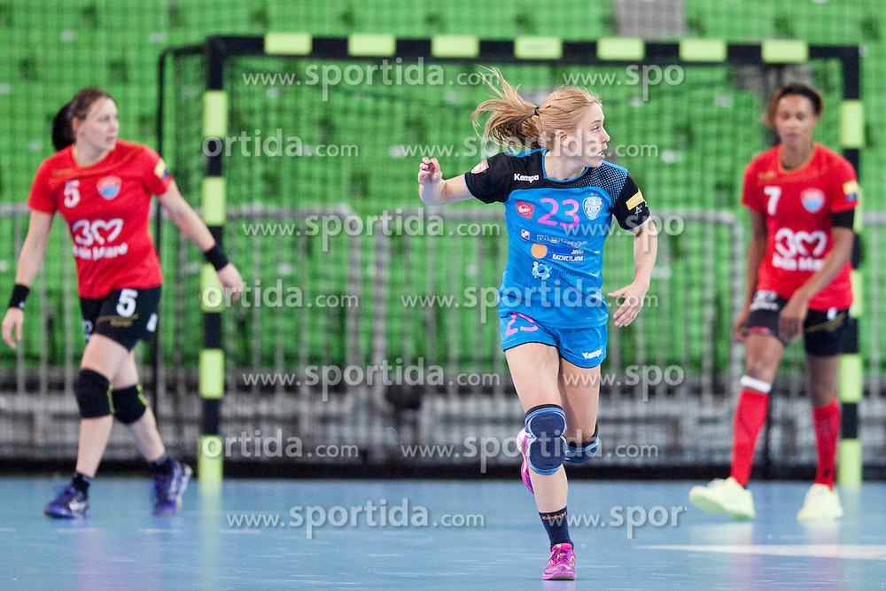 Polona Baric of RK Krim Mercator during handball match between RK Krim Mercator (SLO) and HCM Baia Mare (ROM) in 1st Round of Women's EHF Champions League 2015/16, on October 16, 2015 in Arena Stozice, Ljubljana, Slovenia. Photo by Urban Urbanc / Sportida