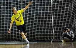 Janez Gams of RK Gorenje reacts during handball match between RK Gorenje Velenje and RK Celje Pivovarna Lasko in Round #19 of 1st NLB League 2015/16, on February 24, 2016 in Rdeca dvorana, Velenje, Slovenia. Photo by Vid Ponikvar / Sportida