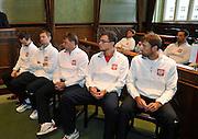 Wroclaw 31/01/2013.Davis Cup .Poland vs Slovenia.Draw ceremony..Polish team.Photo by : Piotr Hawalej