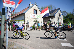 Shannon Malseed (AUS) of Tibco-Silicon Valley Bank Cycling Team corners during the Amstel Gold Race - Ladies Edition - a 126.8 km road race, between Maastricht and Valkenburg on April 21, 2019, in Limburg, Netherlands. (Photo by Balint Hamvas/Velofocus.com)