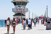 Huntington Beach Pier During Summer