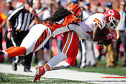CINCINNATI, OH - OCTOBER 4: Jason Avant #81 of the Kansas City Chiefs makes a reception near the sideline against the Cincinnati Bengals during a game at Paul Brown Stadium on October 4, 2015 in Cincinnati, Ohio. The Bengals defeated the Chiefs 36-21. (Photo by Joe Robbins)