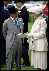 Prince Charles and Princess Michael of Kent in the Parade ring on the Opening day of Royal Ascot 2013 Ascot, United Kingdom<br /> Tuesday, 18th June 2013,<br /> Picture by Andrew Parsons / i-Images
