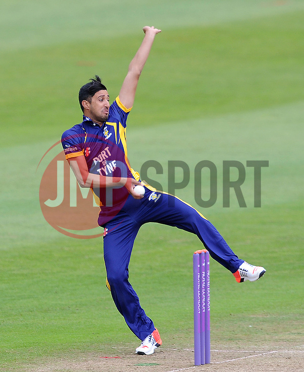 Durham's Usman Arshad - Photo mandatory by-line: Harry Trump/JMP - Mobile: 07966 386802 - 29/07/15 - SPORT - CRICKET - Somerset v Durham - Royal London One Day Cup - The County Ground, Taunton, England.
