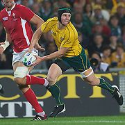 Berrick Barnes, Australia, in action during the Australia V Wales Bronze Final match at the IRB Rugby World Cup tournament, Auckland, New Zealand. 21st October 2011. Photo Tim Clayton...