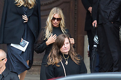 Kate Moss attend Peter Lindbergh's funerals at Eglise Saint-Sulpice in Paris, France on September 24, 2019. Photo by Nasser Berzane/ABACAPRESS.COM