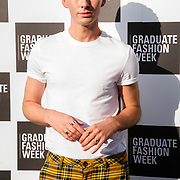 Lorcan London arriver at the Graduate Fashion Week 2018, June 6 2018 at Truman Brewery, London, UK.