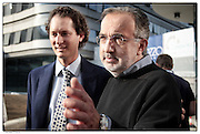 John Elkann, Presidente Fiat S.p.A.e Sergio Marchionne Amministratore Delegato di FIAT S.p.A. e Presidente e Amministratore Delegato di Chrysler Group LLC..Torino settembre 2012 .