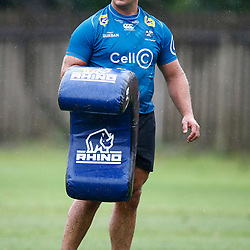 Juan Schoeman of the Cell C Sharks during The Cell C Sharks training session 10th December 2019 at Jonsson Kings Park Stadium in Durban, South Africa. (Photo by Steve Haag)<br /> <br /> images for social media must have consent from Steve Haag