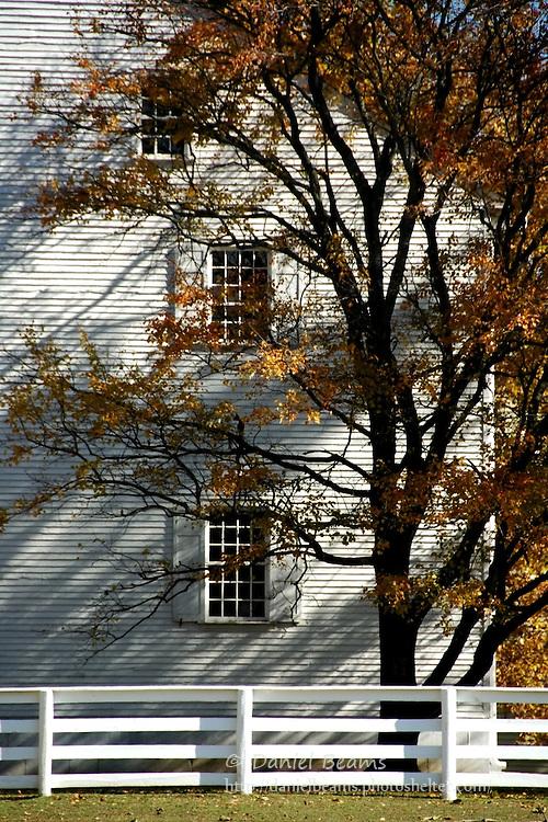 Fall foliage Pleasant Hill Shaker community near Harrodsburg, Kentucky