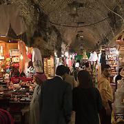The covered souq (market) in Aleppo, Syria
