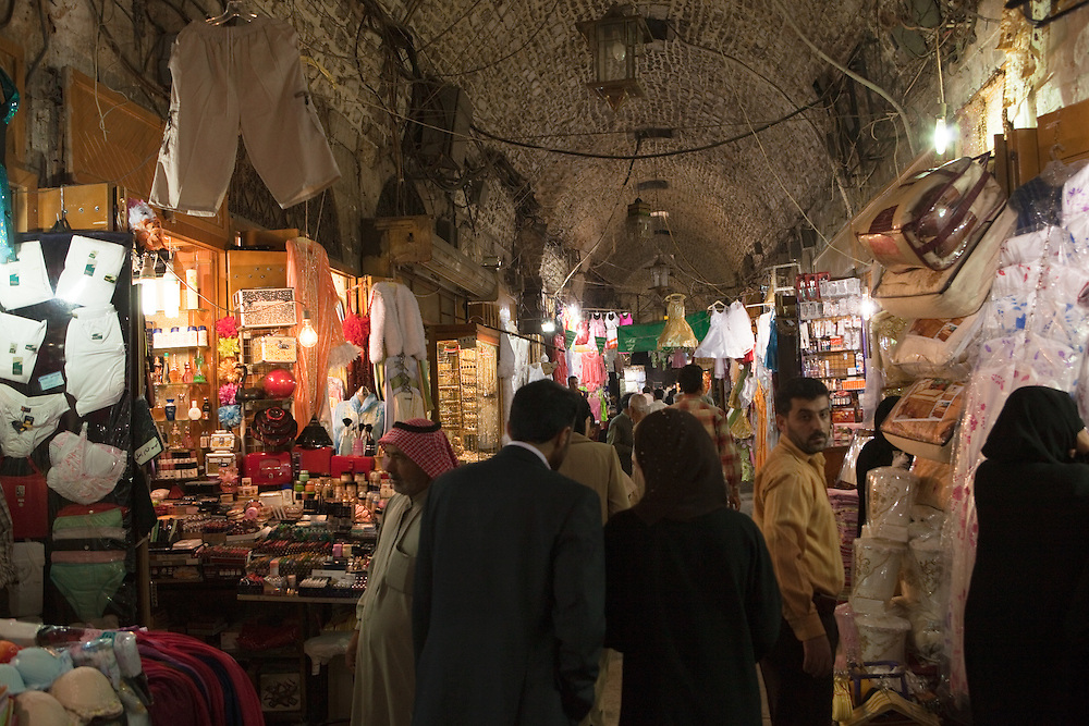 The covered souq (market) in Aleppo, Syria