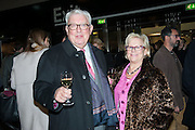 FRANK DUNPHY AND HIS WIFE, Art13 London First night, Olympia Grand Hall, London. 28 February 2013