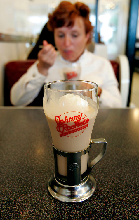 US-SAN FRANCISCO: A milkshake at Johnny Rockets, PHOTO: GERRIT DE HEUS