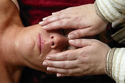 Patient having reiki,