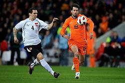 09-02-2011 VOETBAL: NEDERLAND - OOSTENRIJK: EINDHOVEN<br /> Netherlands in a friendly match with Austria won 3-1 / Ruud van Nistelrooy NED and Emanuel Pogatetz AUT<br /> ©2011-WWW.FOTOHOOGENDOORN.NL
