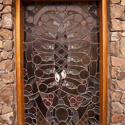Stained Glass Window at Chapel, Turtle Island, Yasawa Islands, Fiji