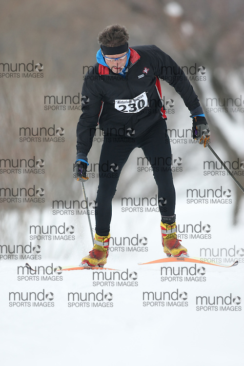 Ottawa, Canada ---07/02/09---DAVE FIELD of OTTAWA finished in 2 overall  2009 WinterludeTriathlon. It is a speed skate, cross country ski, run version of the triathlon. Photo copyright Sean Burges/Mundo Sport Images, 2009.