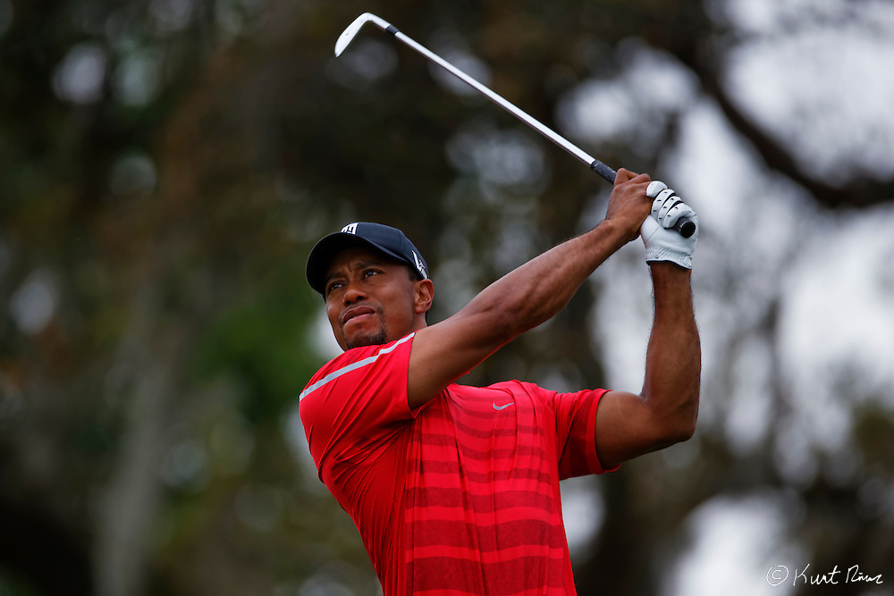 TIGER WOODS drives off the second tee during the final round of the Arnold Palmer Invitational at the Bay Hill Club and Lodge.