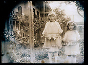 little girls celebrating Easter in garden France 1926