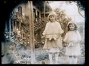little girls celebrating Easter in garden France 1926
