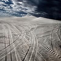 Storm in a desert. Lancelin dunes in Australia.