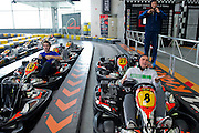 (L-R) Potr Gadomski &amp; Marcin Matkowski &amp; Mariusz Fyrstenberg while GoKarts Racing on F1 Karting Track four days before the BNP Paribas Davis Cup 2014 between Poland and Croatia in Warsaw on March 31, 2014.<br /> <br /> Poland, Warsaw, March 31, 2014<br /> <br /> Picture also available in RAW (NEF) or TIFF format on special request.<br /> <br /> For editorial use only. Any commercial or promotional use requires permission.<br /> <br /> Mandatory credit:<br /> Photo by &copy; Adam Nurkiewicz / Mediasport