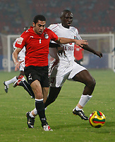 Photo: Steve Bond/Richard Lane Photography.<br /> Egypt v Sudan. Africa Cup of Nations. 26/01/2008. Ahmed Fathi (l0 bursts through
