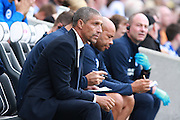 Brighton Manager Chris Hughton during the EFL Sky Bet Championship match between Brighton and Hove Albion and Barnsley at the American Express Community Stadium, Brighton and Hove, England on 24 September 2016. Photo by Bennett Dean.
