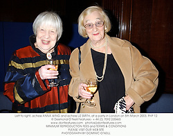 Left to right, actress ANNA WING and actress LIZ SMITH, at a party in London on 5th March 2003.PHP 12