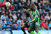 Ade Azeez forward for AFC Wimbledon (14) during the Sky Bet League 2 match between Wycombe Wanderers and AFC Wimbledon at Adams Park, High Wycombe, England on 2 April 2016. Photo by Stuart Butcher.