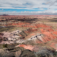 Painted Desert before the snow storm. Petrified Forest National Park, Arizona