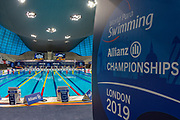 General inside view of the Aquatics Centre pool during the World Para Swimming Championships 2019 Day 3 held at London Aquatics Centre, London, United Kingdom on 11 September 2019.