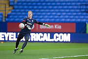 Bolton Wanderers goalkeeper Ben Amos warms up before the The FA Cup fourth round match between Bolton Wanderers and Leeds United at the Macron Stadium, Bolton, England on 30 January 2016. Photo by Simon Brady.